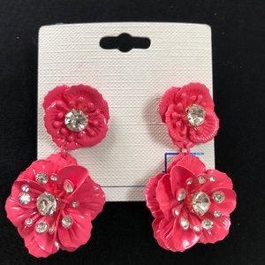 NEW Pink Floral Earrings